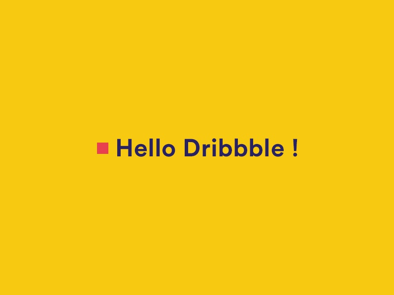 Hello dribbble ! debut first shoot