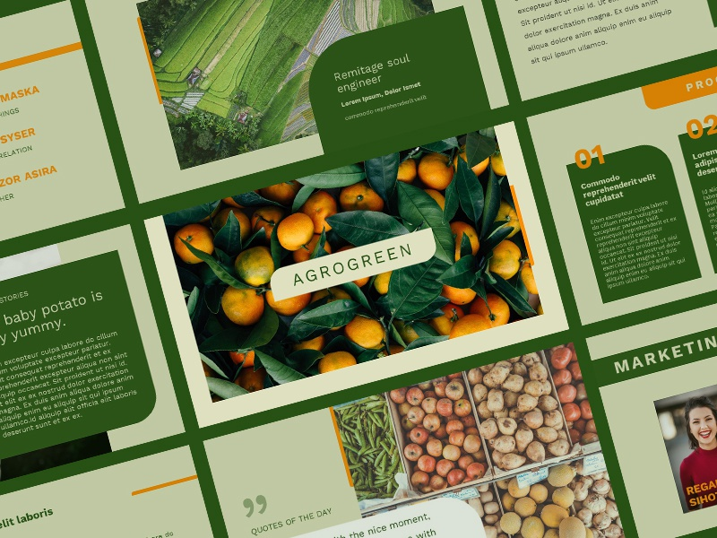 Agrogreen - Plantation Presentation Template agriculture agrogreen presentation