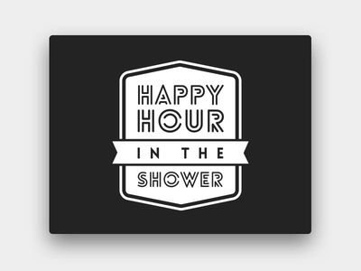 Happy Hour in the Shower one-color koozie beer logo logo print screen print