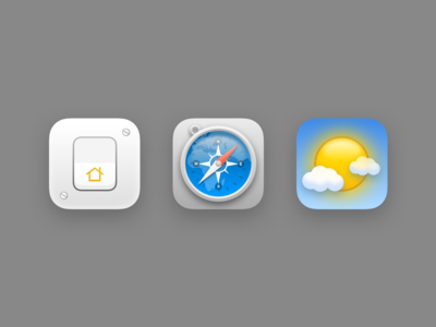Skeuomorphic Icons for Icon Pack ios 14 branding design logo redesign concept ios
