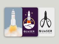 Rocket Ship Logo 3 Stages