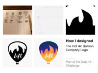 Design Process for The Hot Air Balloon Logo