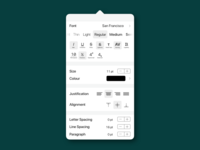 Standard UI for Advanced Typography Options
