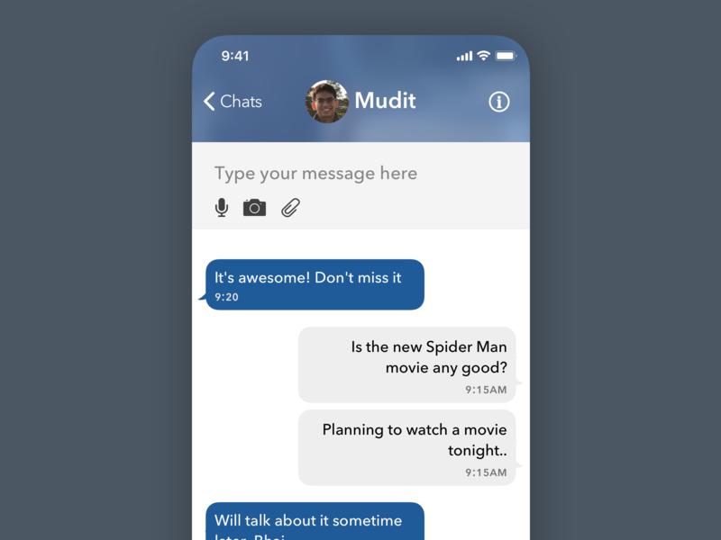 Daily UI: Messaging App ui daily ui ui design