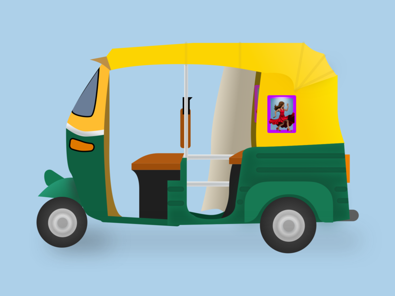 Auto Rickshaw Emoji tuktuk emoji auto rickshaw
