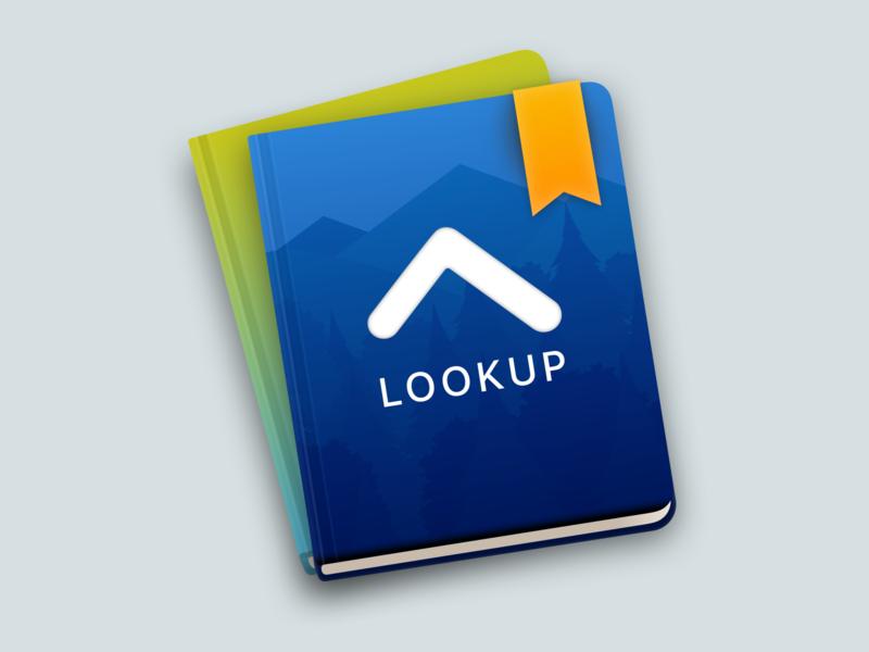 Icon for LookUp on macOS look lookbook icon icon design catalyst lookup