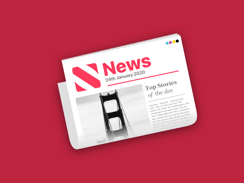 Apple News Icon Redesign redesign concept icon icon design