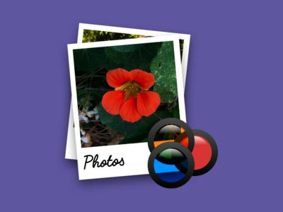 Photos app icon redesign