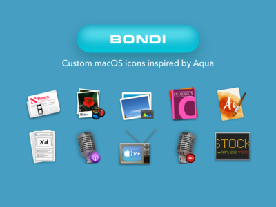 Bondi: Custom macOS Icon set