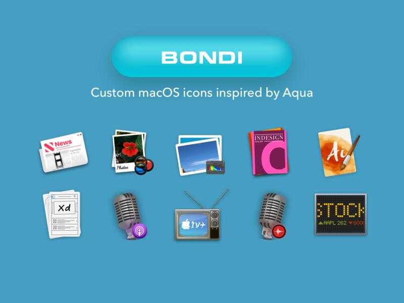 Bondi: Custom macOS Icon set icon pack custom icons macos icons