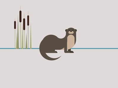 otter simple minimal geometric wildlife art wildlife environment conservation otter animal endangered