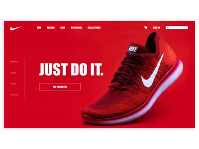 Daily UI #003 - Nike Landing Screen