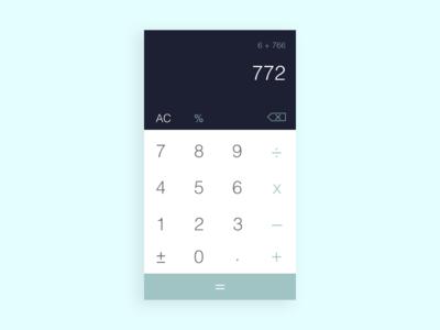 Daily UI #004 -  Standard Calculator