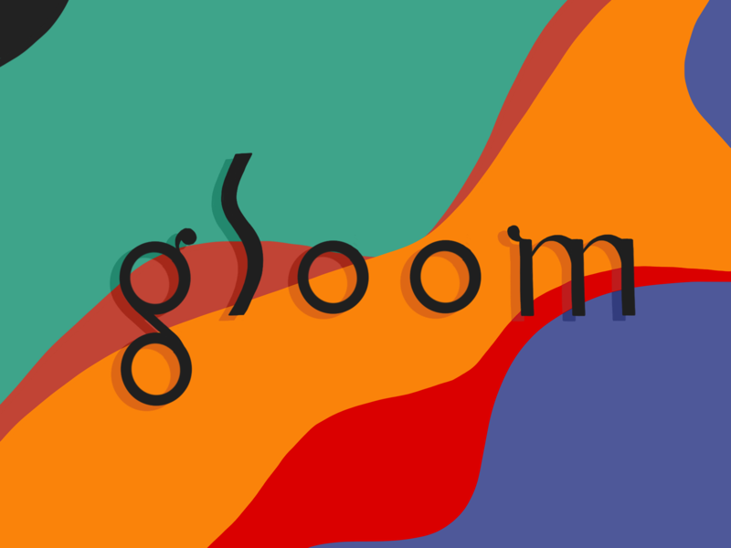 g l o o m '99 type experiment fun sketch experiment procreate designer colors extreme gloom wiggle wave simple hand lettering typography type illustration design 1999