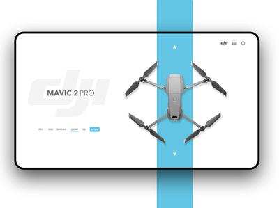 DJI Drone Desktop Landing Page