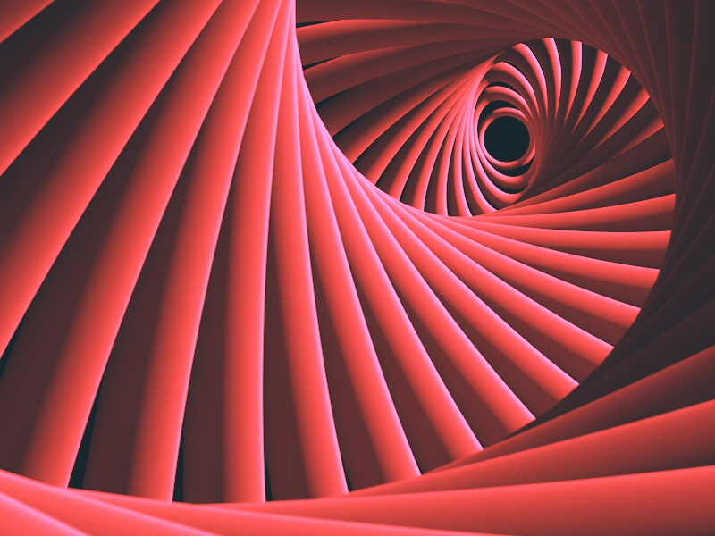 Spiral twist spiral 3d red abstract graphic design illustration cinema 4d