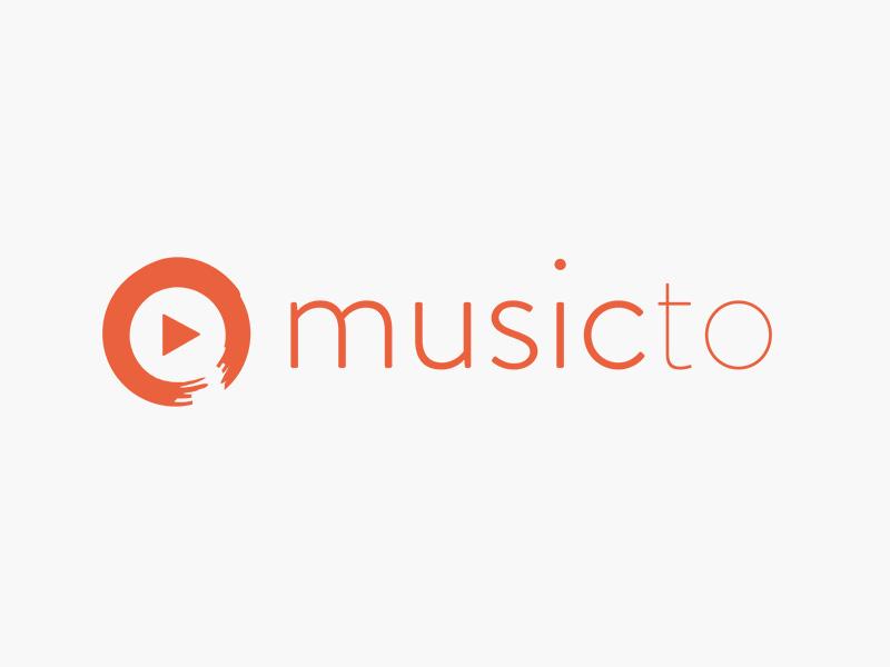 musicto Logo logo logomark brandon grotesque branding logo design illustration