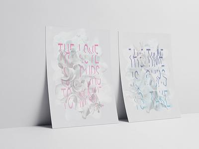 Bed Peace typography poster poster design typography sculpture music art music lyrics poster illustration design