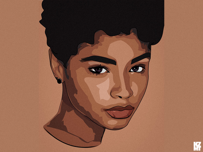 Portrait illustration art