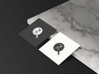 Black & White Logo Design for Z Bistro luxurious marble clean black mnimalist restaurant bistro pan minimal logo branding brand identity