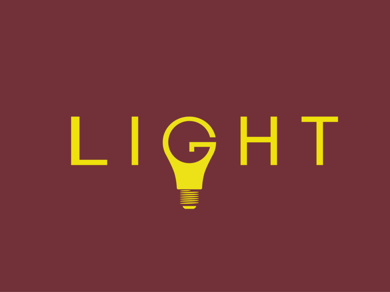 Light flat bulb light letter character typography lettering dribbble art logo illustration vector minimal design