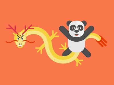 Dragon And Panda