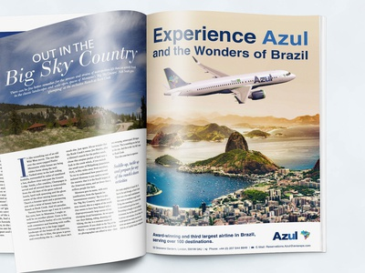 Azul Magazine Advertising