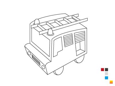 Fire Truck (wip) illustration firetruck personal wip