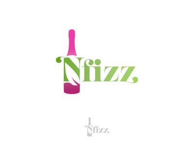 Nfizz Wines natural organic wines branding concept logo