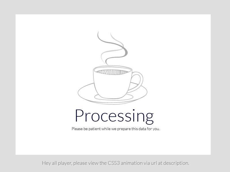 Processing Page by Kwansuda Tusamran on Dribbble