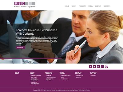 Rsc Corporate Website web design html css jquery purple corporate revenue science rsc
