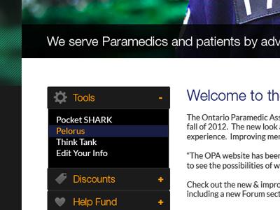 OPA website redesign ontario paramedic website redesign design ui