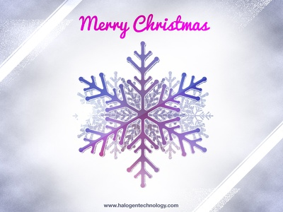 Merry Christmas merry christmas card snowflake halogen
