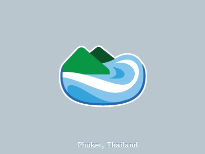 Phuket Symbol phuket symbol vector sea ocean mountain wave blue green rejected