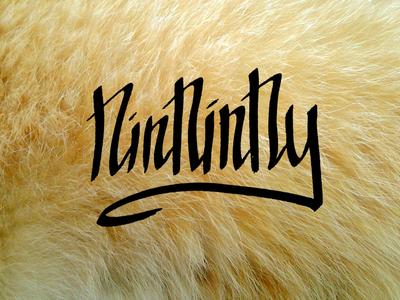 Ninninny Logo ninninny logo cat fur hand writing