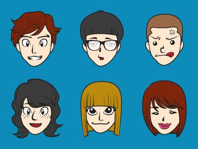 Custom Avatar expression face vector envato avatar custom