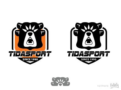 Tidasport Logo vector bear sport logo