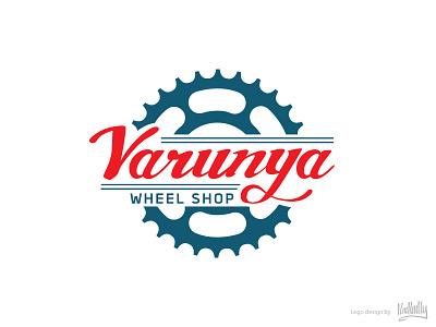 Varunya Wheel Shop Logo gear shop wheel bicycle bike logo