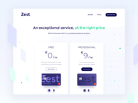Zest • Top of the pricing page