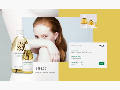 Daily UI #002 - Credit card checkout design web ui