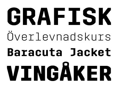 Trim Mono typeface font