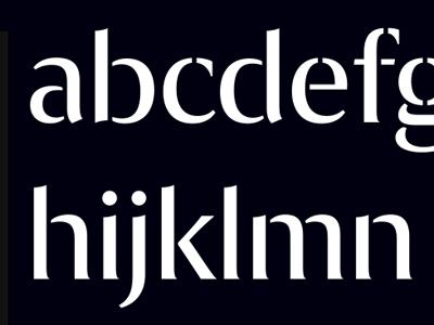 Exemplar Stencil typeface font