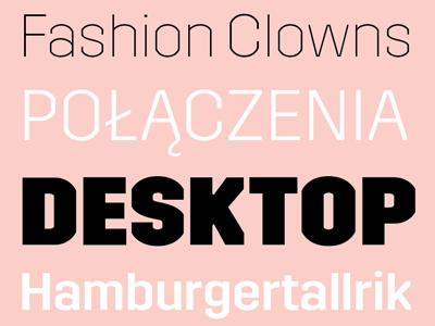 Trim PDF Specimen typeface font