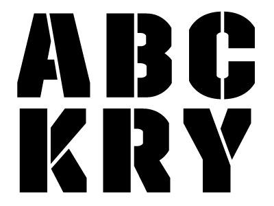 Trim Stencil typeface font