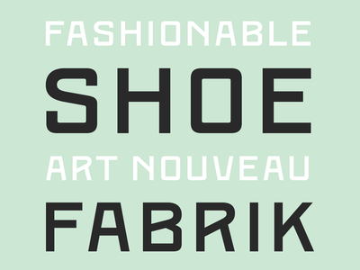 Kumla Skofabrik font typeface sweden revival architecture industry
