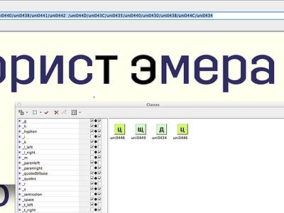 Trim Cyrillic kerning trim font typeface sweden cyrillic