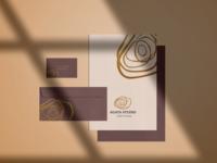 Brand identity for luxury spa centre