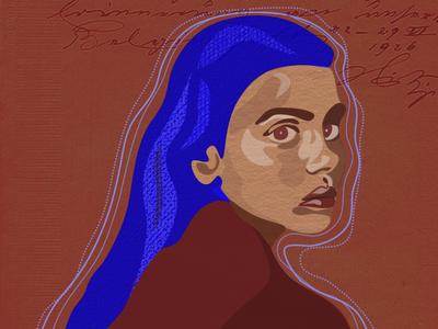 Blue bird art digital art illustrator graphic desgin illustration