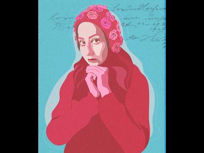 Self-Portrait artwork painting digital art illustrator illustration graphic desgin
