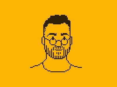 Pascal Pixel Portrait retro 8bit pixelart pixel